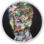 Round Beach Towel featuring the painting A Life Full Of Oppurtunities by Fabrizio Cassetta