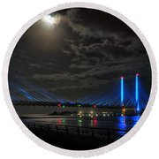 A Light From Above Round Beach Towel
