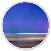 A Little Blush In The Sky Round Beach Towel