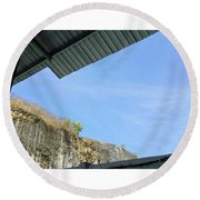 A Little Look Up From The Round Beach Towel by Loly Lucious