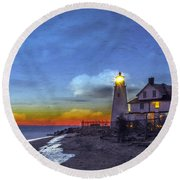 A Little Oil On Plaster Round Beach Towel by Edward Kreis