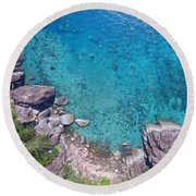 A Little Square Of Paradise  Round Beach Towel