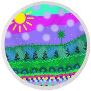 A Little Whimsy Round Beach Towel