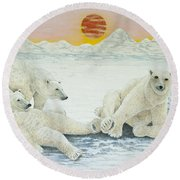 A Long Days Night Round Beach Towel