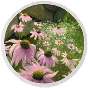A Lovely Garden Round Beach Towel