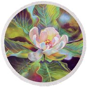 A Magnolia For Maggie Round Beach Towel