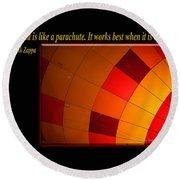 A Mind Is Like A Parachute Round Beach Towel
