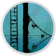 Round Beach Towel featuring the photograph A Modicum Of Maritime Minimalism by Chris Lord