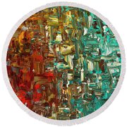 A Moment In Time - Abstract Art Round Beach Towel