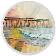 A Moment Of Peace Round Beach Towel