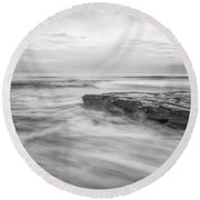 A Morning's Gift Round Beach Towel