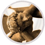 A Mother's Angel Round Beach Towel