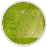 A Mother's Love Part II The Text Round Beach Towel