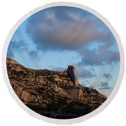 A Mountain With A View Round Beach Towel