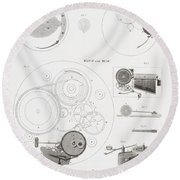 A Musical Watch By The Clockmaker Round Beach Towel