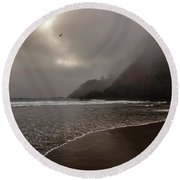 A Muted Afternoon Round Beach Towel