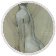 A Naiad In The Lament For Icarus Round Beach Towel by Herbert James Draper