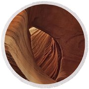 A Natural Abstract Dist Round Beach Towel