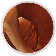 A Natural Abstract Round Beach Towel