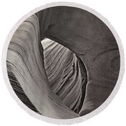 A Natural Abstract Tnt Round Beach Towel