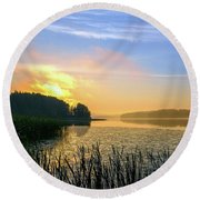 A New Day Is Dawning Round Beach Towel