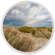 A New Day Panorama Round Beach Towel
