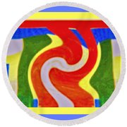 A New Twist Round Beach Towel by Shirley Moravec