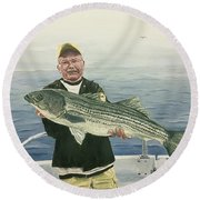 A Nice Catch Round Beach Towel