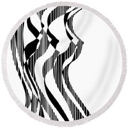 A Nude Figure, Untitled Round Beach Towel