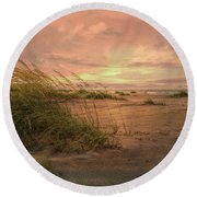 A Painted Sunrise Round Beach Towel