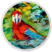 Papagalos Round Beach Towel