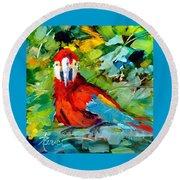Papagalos Round Beach Towel