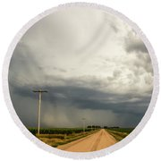 A Passion For Shelf Clouds 001 Round Beach Towel