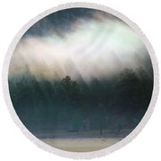 A Patch Of Fog Round Beach Towel