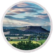 A Peaceful Land Round Beach Towel