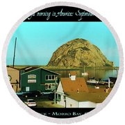 A Peaceful Morning In America 9-10-01 Round Beach Towel