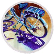 A Pedego Cruiser Bike Round Beach Towel