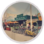 A Perfect Day For A Ride Round Beach Towel by Laurie Search