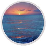 A Perfect Finish Round Beach Towel