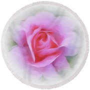 A Perfect Pink Rose Round Beach Towel