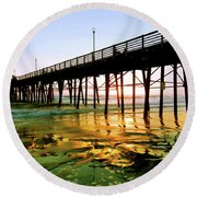 A Perfect Place Round Beach Towel