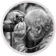A Photographers Photographer Round Beach Towel