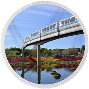 Round Beach Towel featuring the photograph A Picture Perfect Florida Day by Carol Bradley