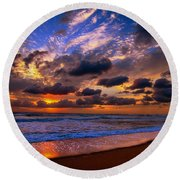 A Piece Of Theater Round Beach Towel by John Harding