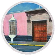 Colonial Mansion Round Beach Towel