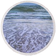A Pink Moon Hdr Round Beach Towel