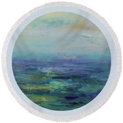 A Place For Peace Round Beach Towel by Mary Wolf