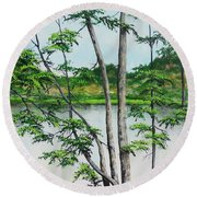 A Place Of Refuge Round Beach Towel