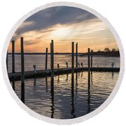 A Place On The River Round Beach Towel