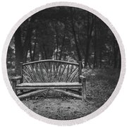 A Place To Sit 6 Round Beach Towel